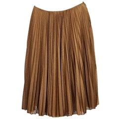 Copper Prada Perforated Nylon Skirt