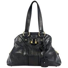 Black Yves Saint Laurent Muse Tote Bag