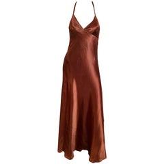 Silk ombré slip gown