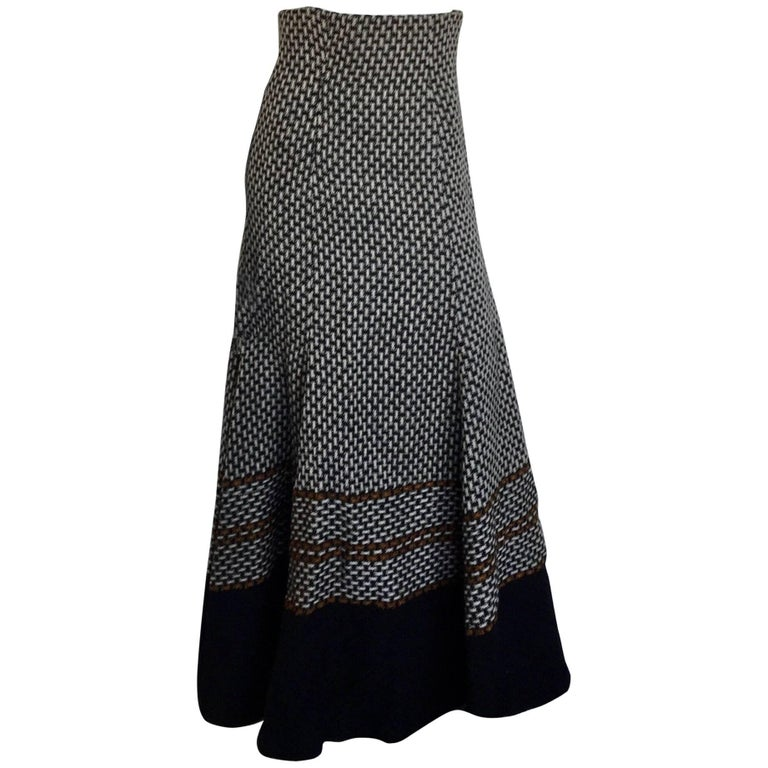 Black and Tan high waisted maxi skirt