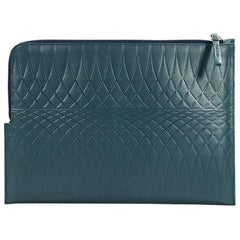 Teal Paul Smith Leather Embossed Pouch
