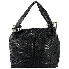 Black Jimmy Choo Leather Saba Hobo Bag