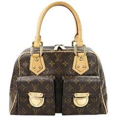 Brown Louis Vuitton Manhattan PM Handbag