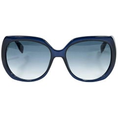 Blue Fendi Square Sunglasses