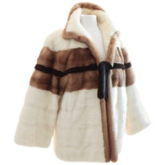 Grosvenor Bonwit Teller Mink Jacket White Pastel Dark Ranch Fur As Seen in Vogue