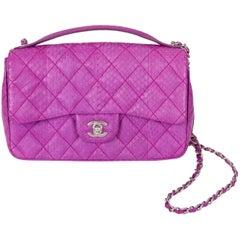 Chanel Purple Python Flap Bag, 2015