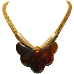 1977 Givenchy Lucite Butterfly Choker Necklace
