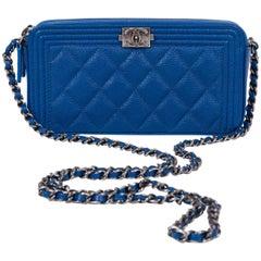New Chanel  Blue Caviar Crossbody WOC Bag