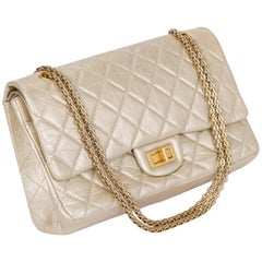 Chanel Gold Distressed Jumbo Reissue Bag