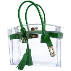 ebd3bd9b1d9 ORIGINAL Mon Autre Sac ® Handbag Mini Cabas Diamant Pvc and Green leather