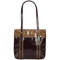 Fendi Brown Zucchino Handbag