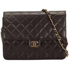 Chanel Black Matelasse Lambskin Leather Shoulder Bag