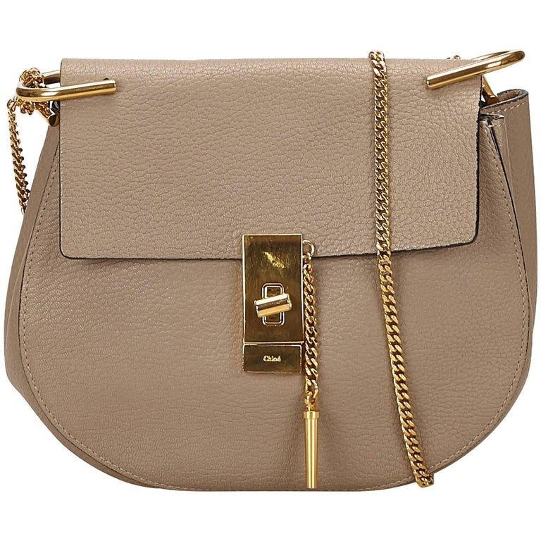 Chloe Gray Medium Drew Bag