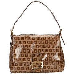 Fendi Brown Zucchino Coated Canvas Handbag