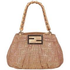 Fendi Beige Zucca Chain Jacquard Handbag