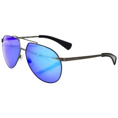 Dolce & Gabbana Blue Mirrored DG2152 Aviator Sunglasses