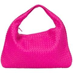 New Bottega Veneta Fuchsia Intrecciato Bag