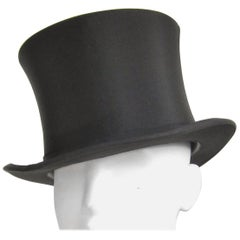 Vintage Stetson Black TOP HAT with Box