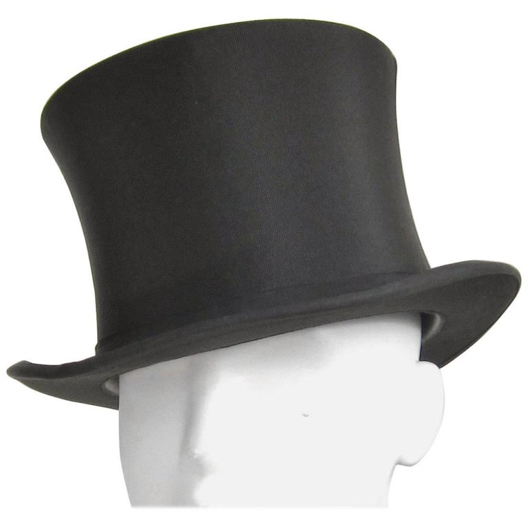 Vintage Stetson Black TOP HAT with Box at 1stdibs c7d805e5f8e
