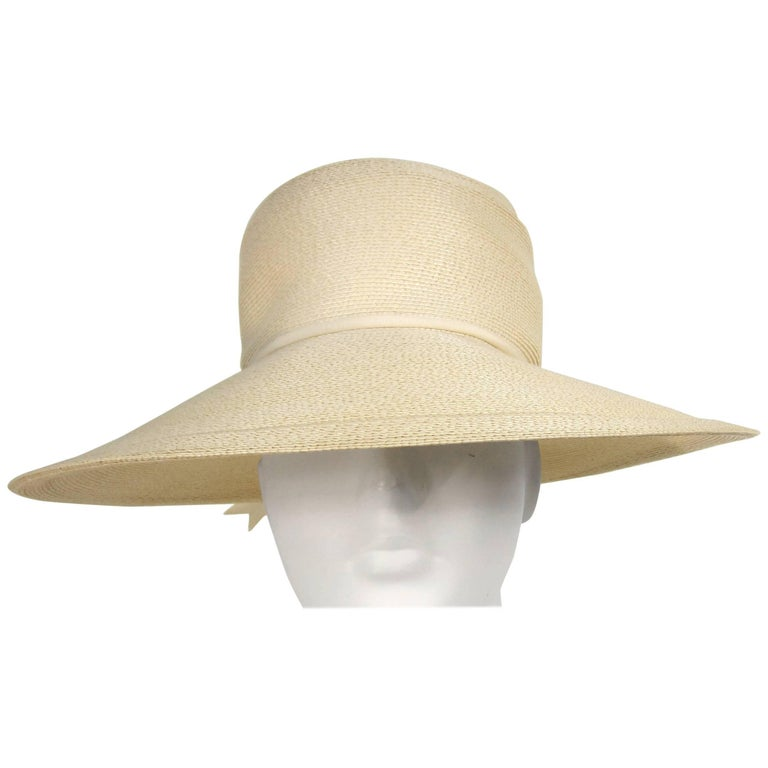 Vintage 1960s  Mr. John Wide Brim Beach Hat
