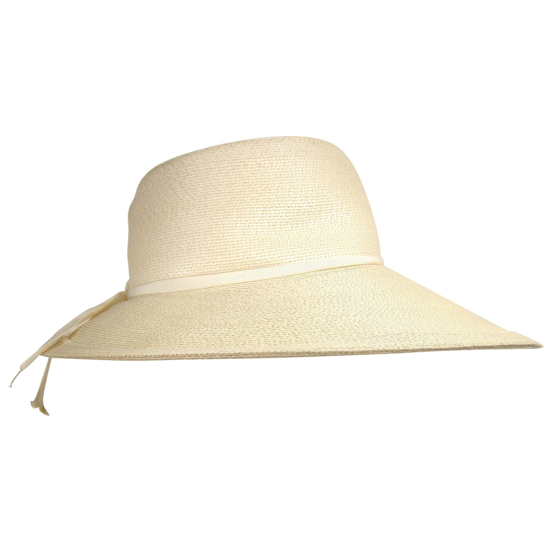 Vintage 1960s  Mr. John Wide Brim Beach Hat