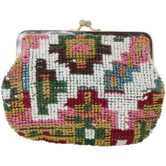 1970's Neiman Marcus Italian Carbetbag Cosmetic Pouch