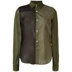 Kakhi Panelled Shirt Comme Des Garcons