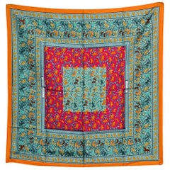 Iconic Colorful Hermes Scarf
