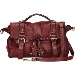 Mulberry Red Alexa Tassel Bag