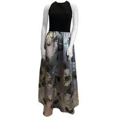 David Meister Full Length Formal Floral Dress