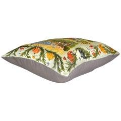 "Vintage Hermès Silk Scarf Pillow Maurice Taquoy ""Chantiily"""