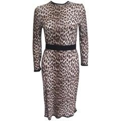 Lanvin Leopard T shirt Cotton Dress S