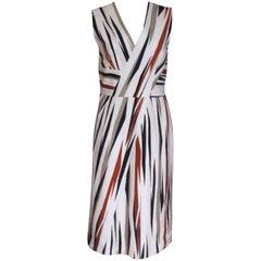 New Bottega Veneta Cotton striped Dress 42 uk 10