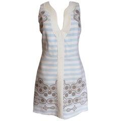 New £1242 Petter Pilotto TAHLIA Blue white Shift Dress uk 10