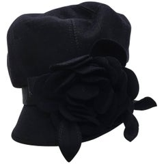 Suzanne Millinery Navy Rosette Hat