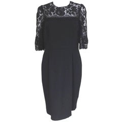 New Dolce and Gabbana Black Lace Dress Italian 48 uk 14-16