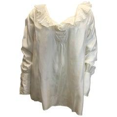 Zanda Rhodes Silk Cream Vintage Blouse