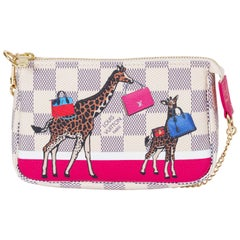 New Vuitton Limited Edition Mini Pouchette Giraffe Bag