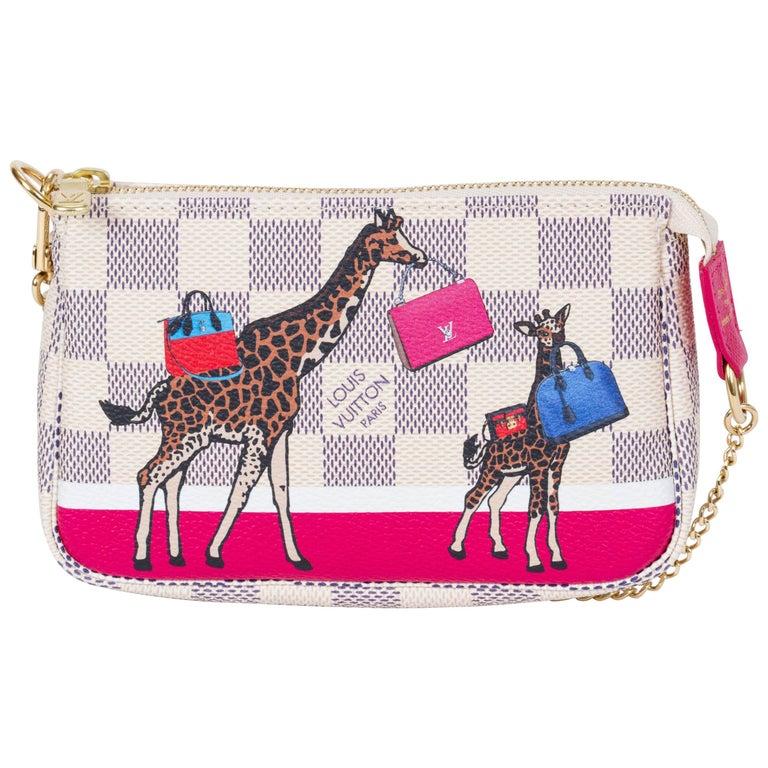 New Vuitton Limited Edition Mini Pouchette Giraffe Bag
