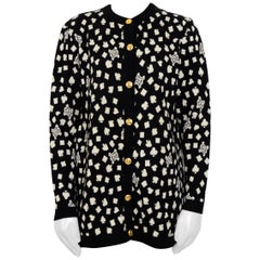 Celine Wool Black And White Cardigan