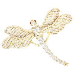 Ciner Ovesized Dragonfly brooch