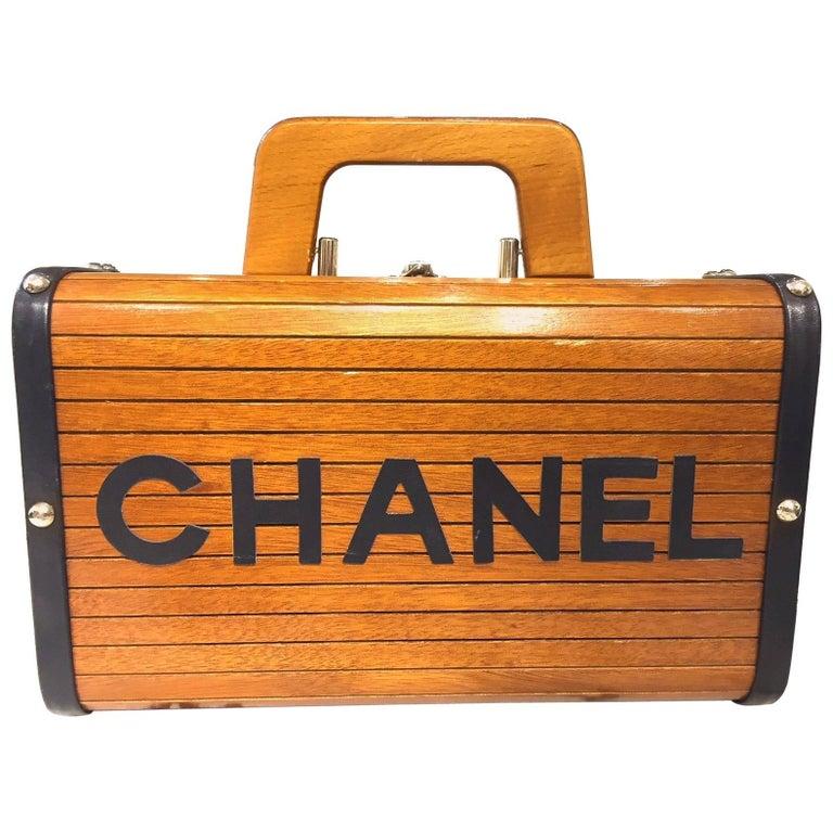 Chanel Limited Brown Wooden Box Handbag, 1994