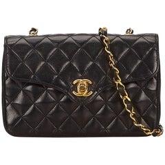 Chanel Black Mini Matelasse Quilted Lambskin Leather Shoulder Bag