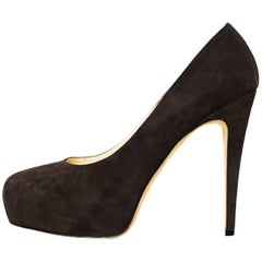 Brian Atwood Brown Suede Maniac Pumps Sz 39