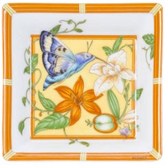 Hermes Flowers Porcelain Small Tray