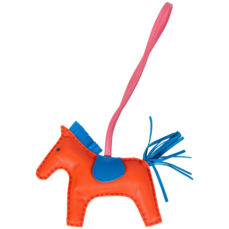 Hermes MM Orange Poppy Rodeo Bag Charm