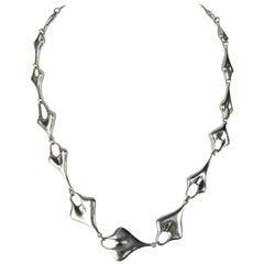 1990s Robert Lee Morris Sterling Silver Link Necklace New, Never worn