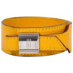 Hermes Yellow Slide Leather Bracelet
