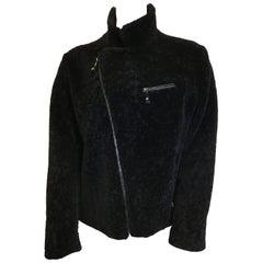 Bella Fiore Black Moto Zip Coat
