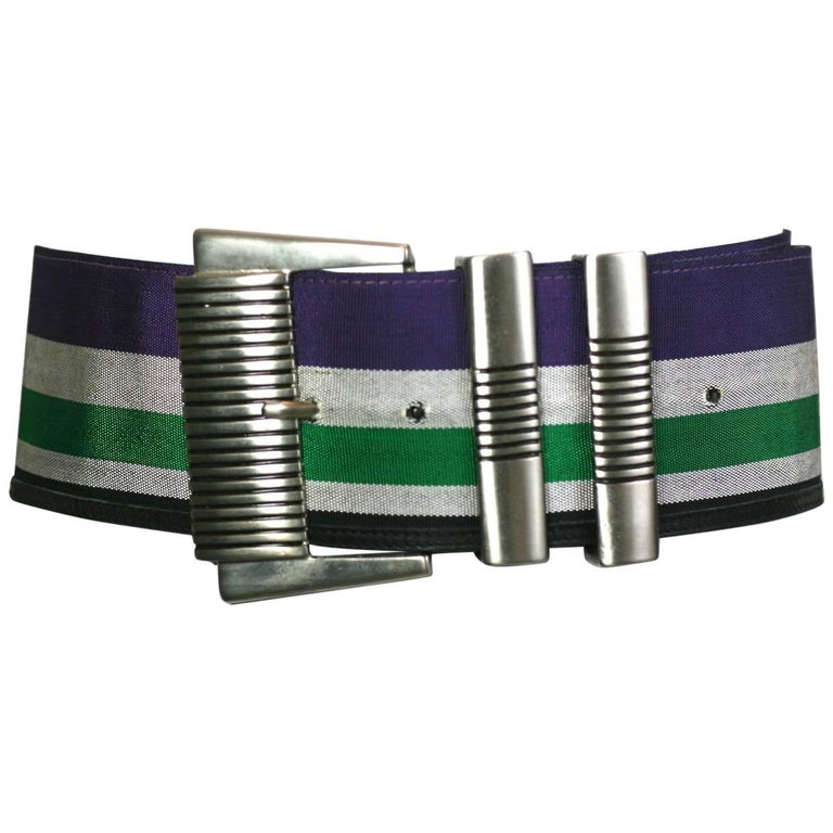 Gianni Versace Super Wide Striped Belt